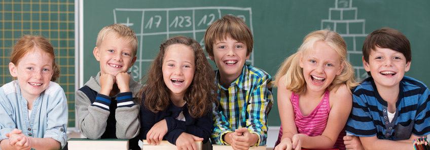 Schüler mit Freude am Lernen
