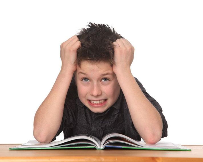 Schüler mit ADHS beim Lernen